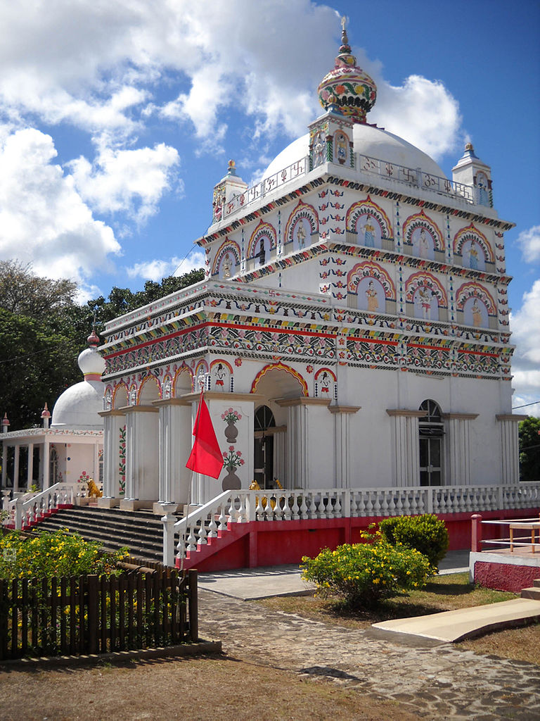 An amazing view of Maheswarnath temple in Triolet in Mauritius