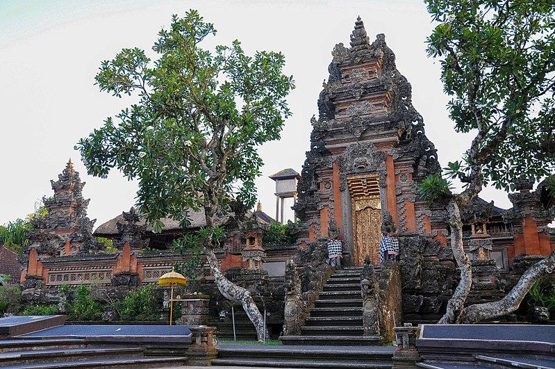 Pura Taman Saraswati temple in Bali, Indonesia