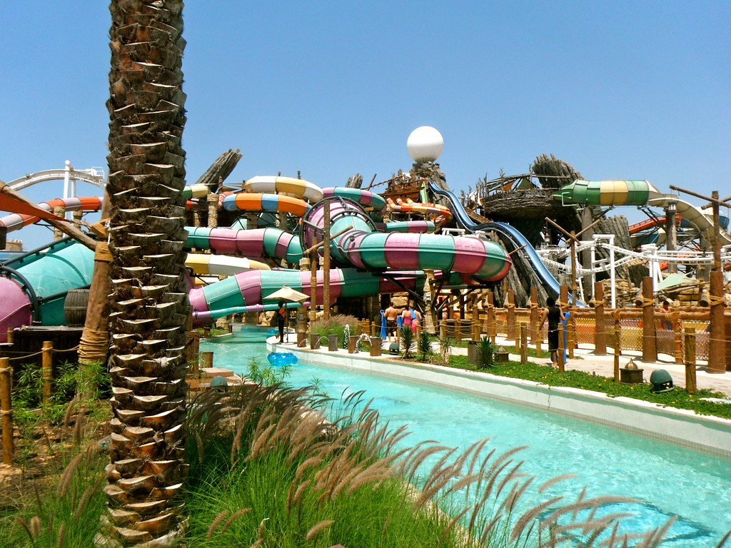 Yas Waterworld, one of the most kid's favorite attraction in Abu Dhabi