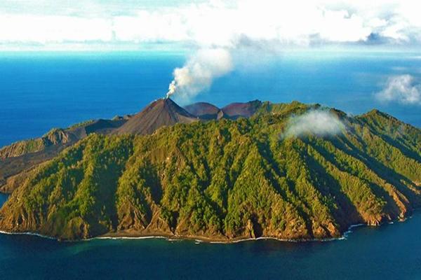Barren Island in Andaman