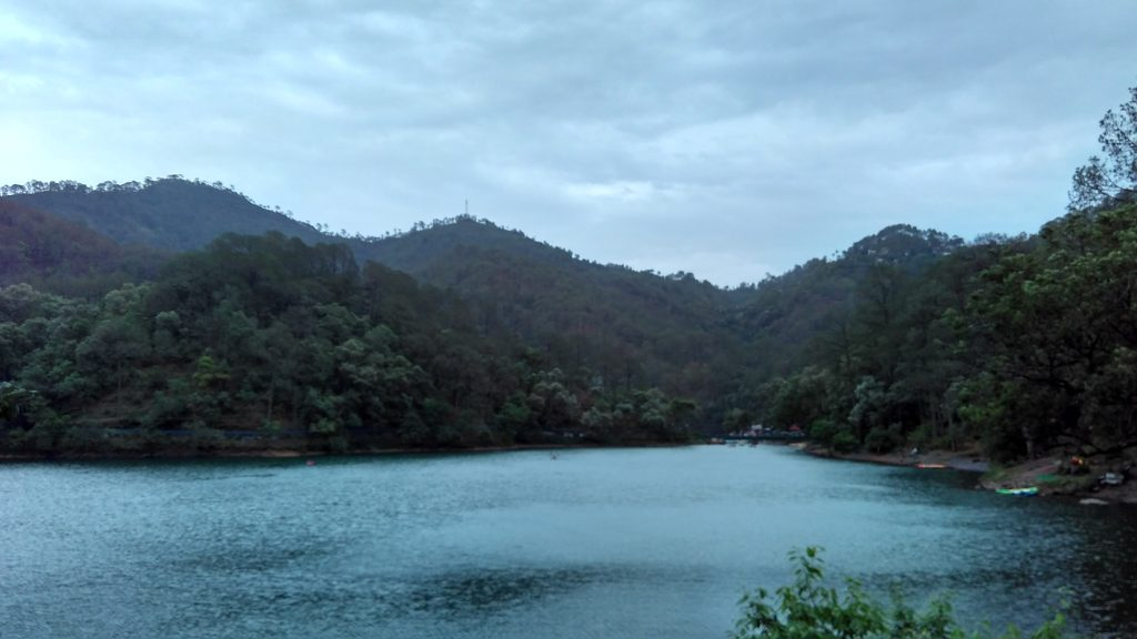 View of romantic Bhimtal lake