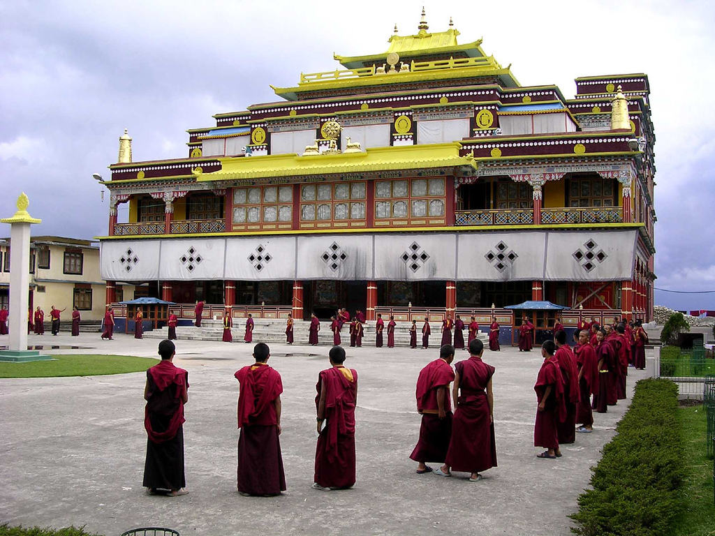 A view of the Ralang Monastery, Sikkim