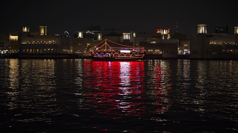 Evening Boat Dhow Cruise in Dubai Visit