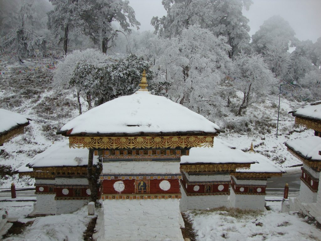 Dochula Bhutan during December