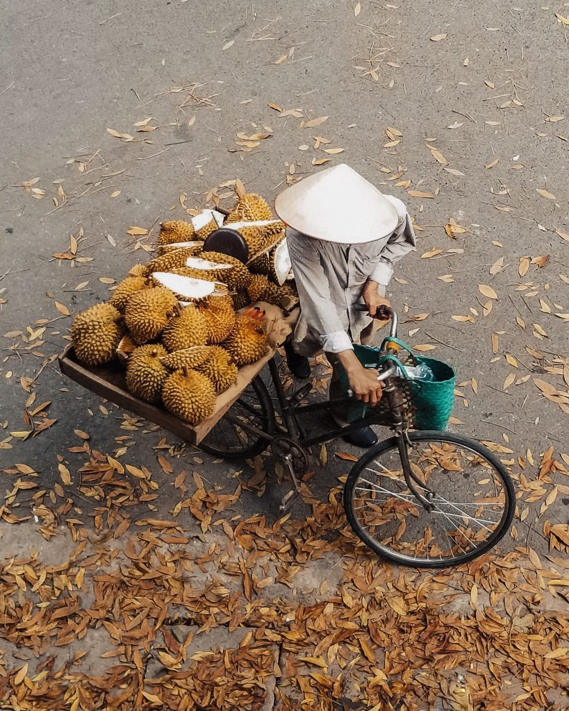 Salesman of Durian Fruit