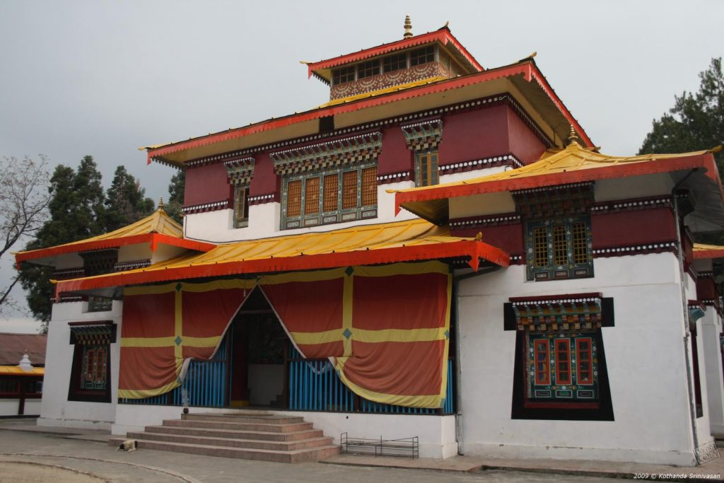 A view of Enchey Monastery, Sikkim