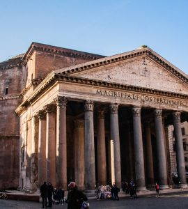 Pantheon Temple Entrance