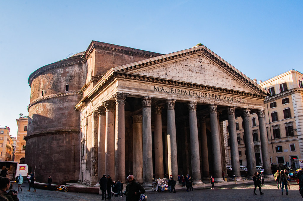 The Pantheon Temple entrance
