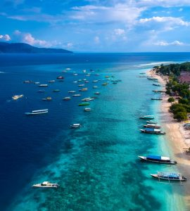 Gili Islands ariel view