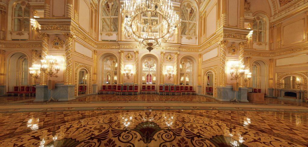 The Alexandrovsky hall in Grand Kremlin palace