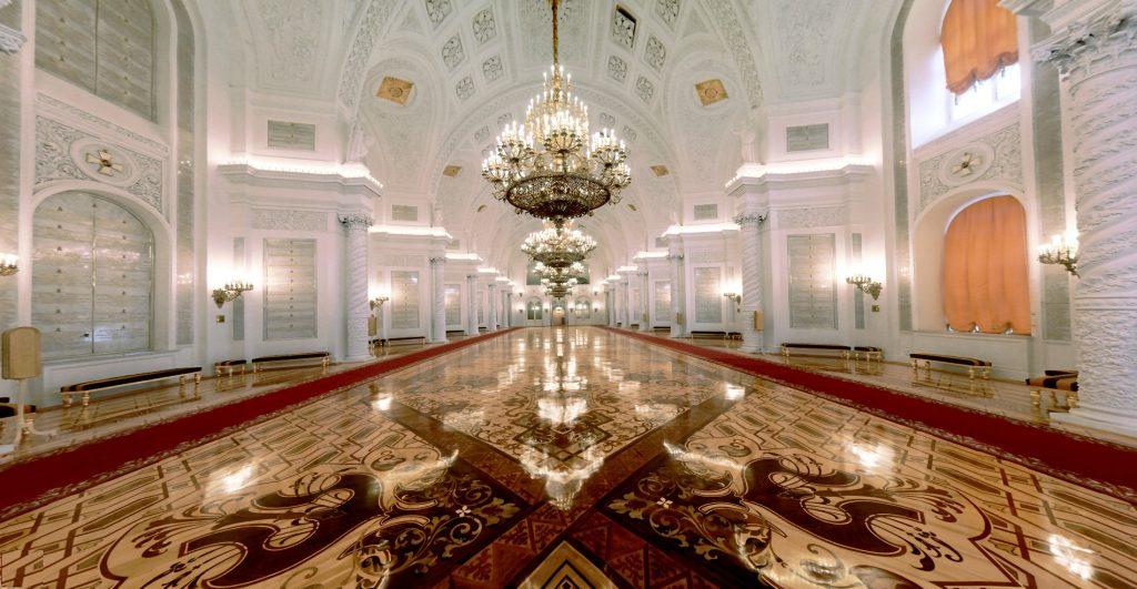 Interior of The Georgievsky hall in Grand Kremlin palace