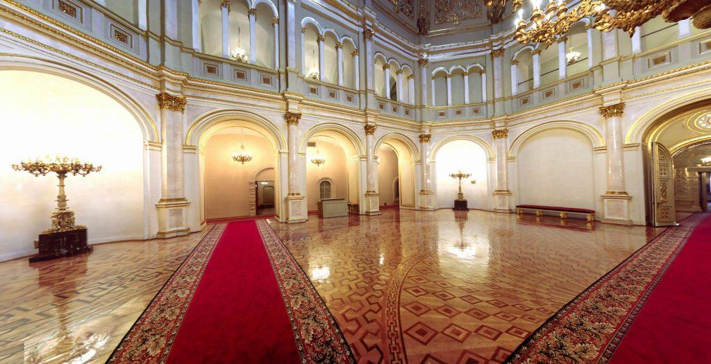 The Vladimirsky hall in Grand Kremlin palace