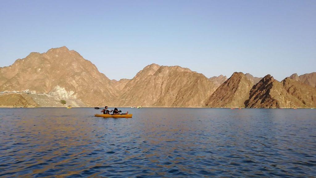 Kayaking in Hatta Dam