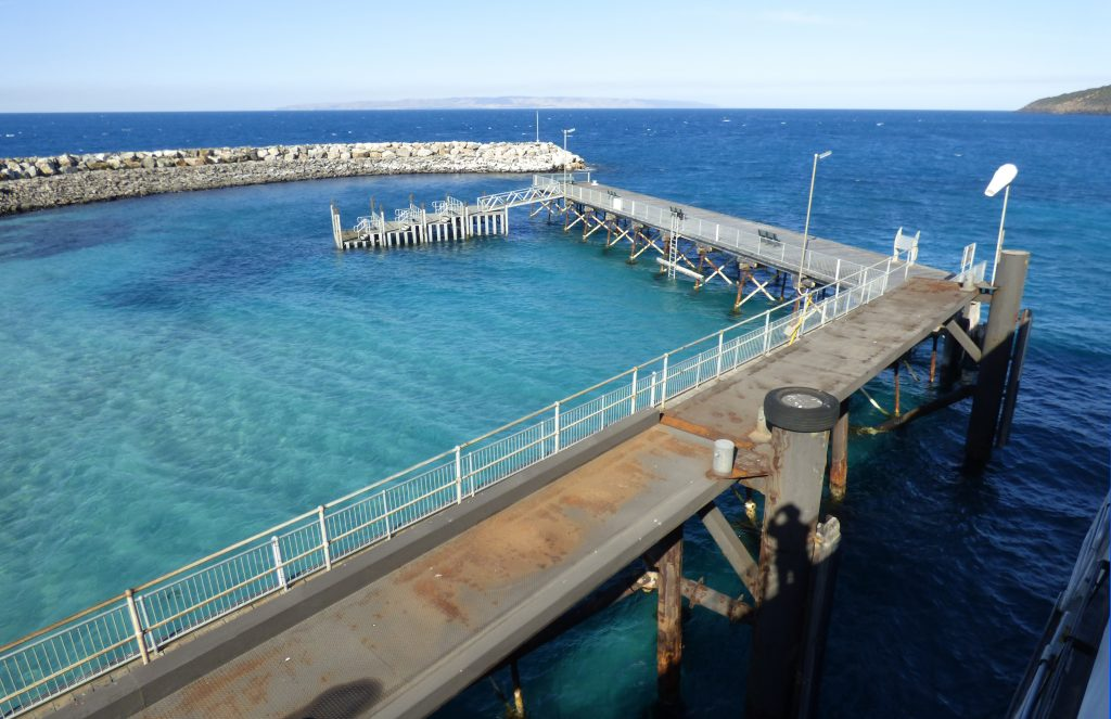 Penneshaw Jetty on Kangaroo Island.