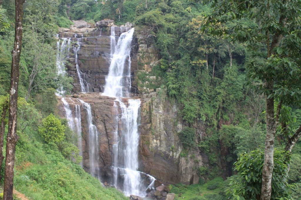 Waterfalls at Ramboda, part of the Ramayana tour