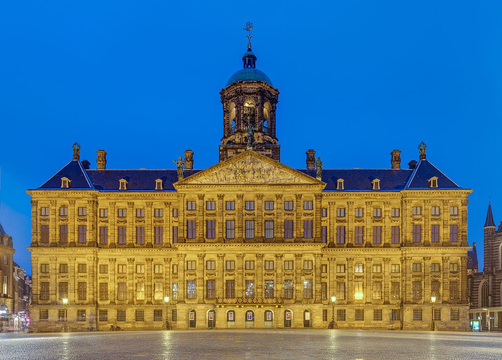 The Royal Palace in Amsterdam in 2016