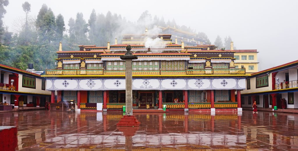 The amazing sight of Rumtek Monastery