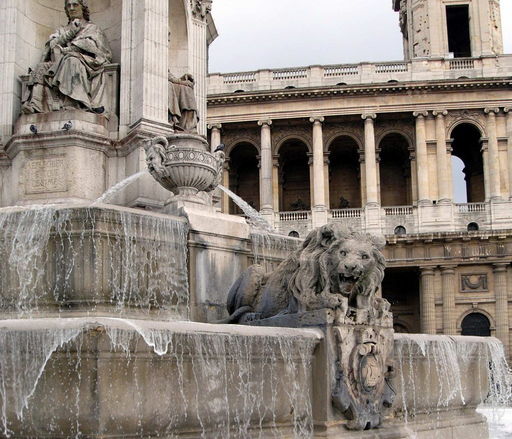 Saint Sulpice fountain at the Cathedral