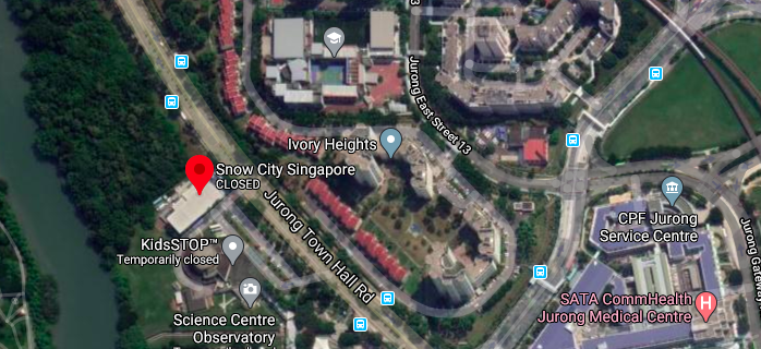 Location of the Snow City Singapore