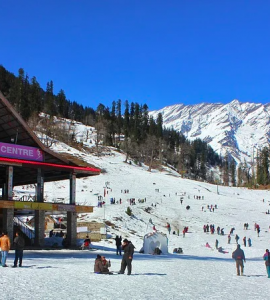 Solang Valley in winter