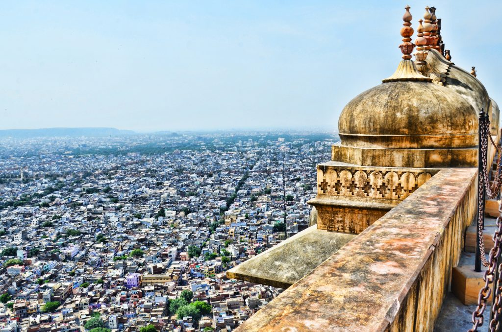 Jaipur city view from the Nahargarh Fort