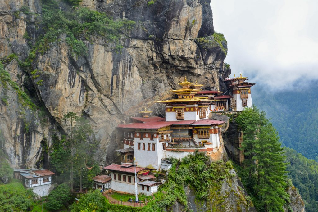 Tiger's nest, one of the temples in Bhutan