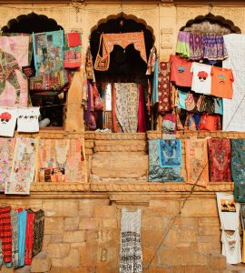 Open clothes shop in Rajasthan