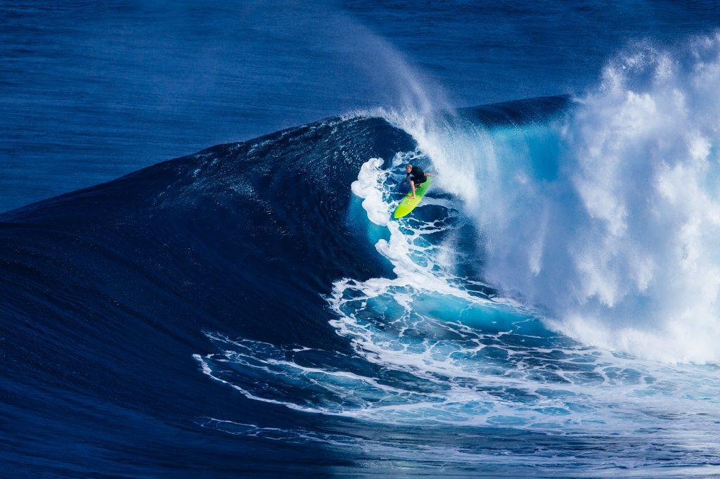 A man Surfing, Seychelles