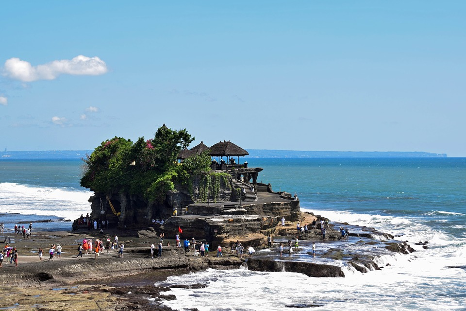 View of Tanah Lot Temple in Bali