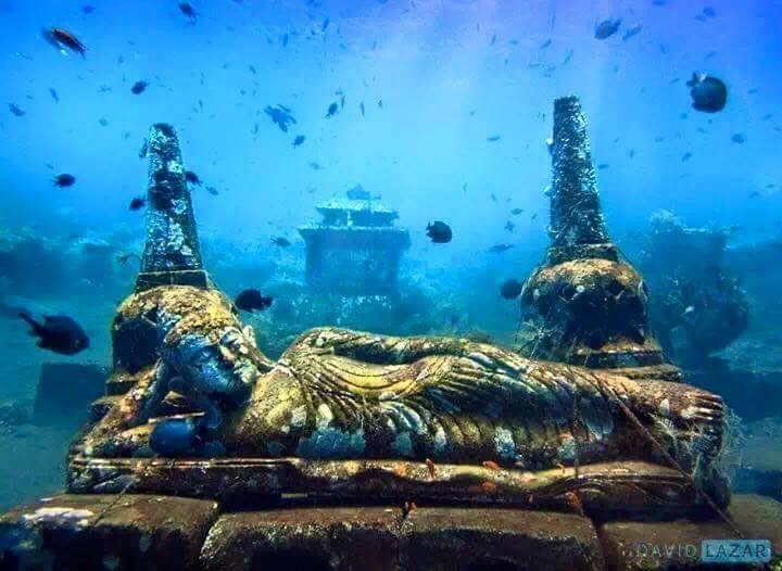 Underwater Temple of Bali