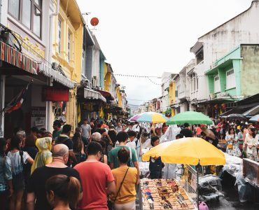 The crowded Streets of Phuket