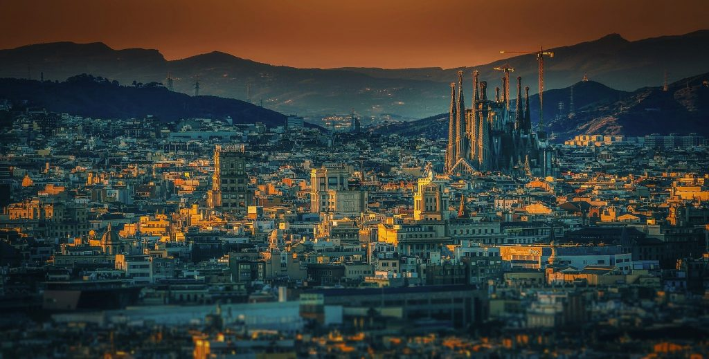 City view in october of spain