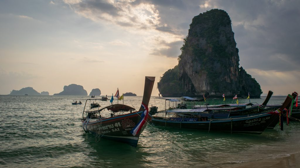 Transfer by boat to railay beach