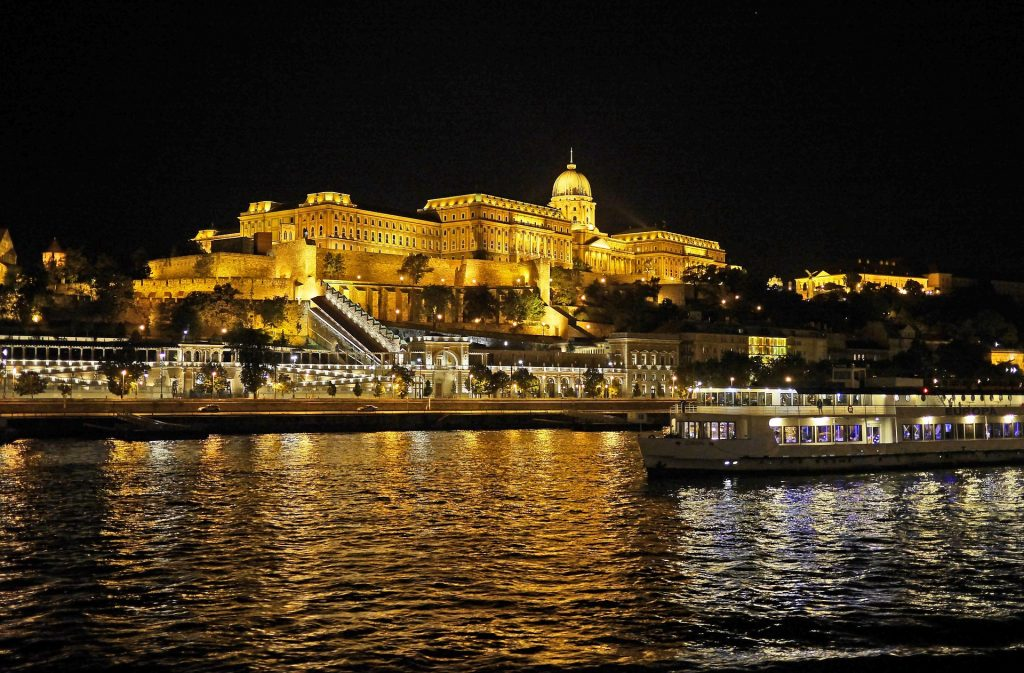 The view of the Danube river cruise, Budapest