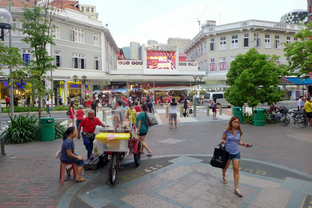 Bugis junction mall the busy street