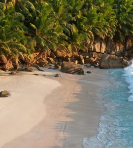 Beautiful beach in Seychelles