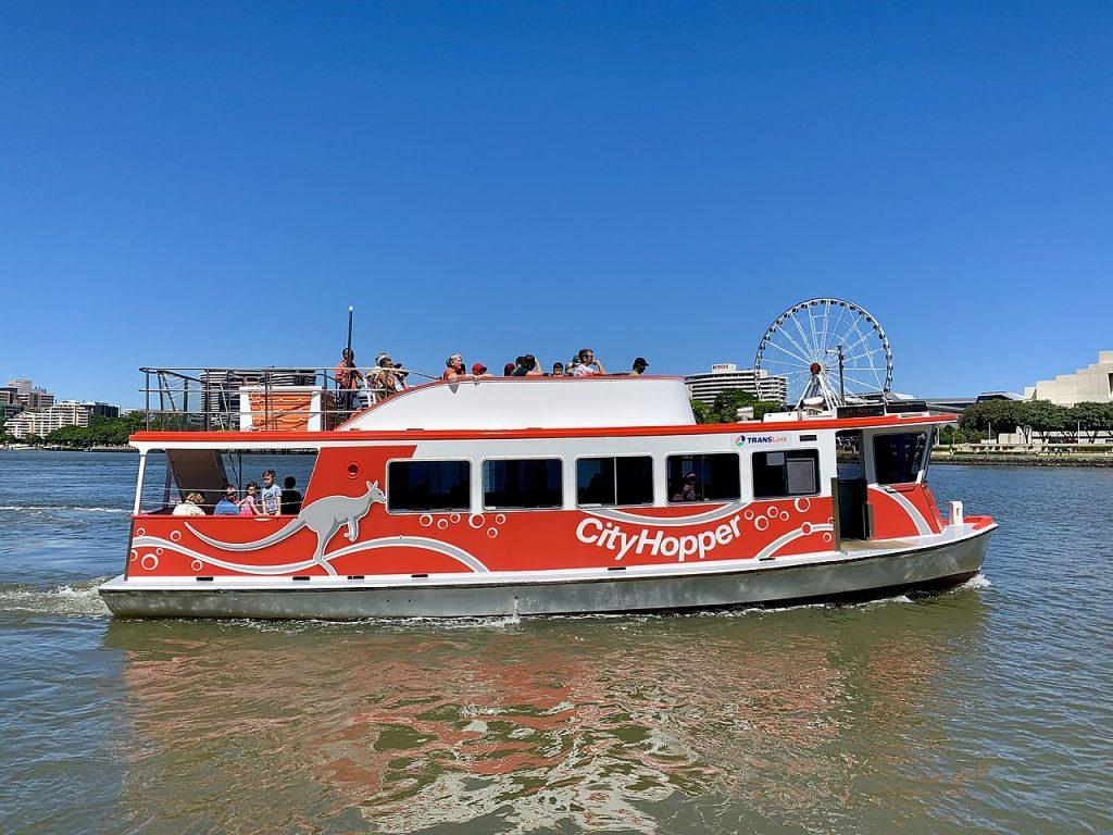 cityhopper ferry in brisbane river