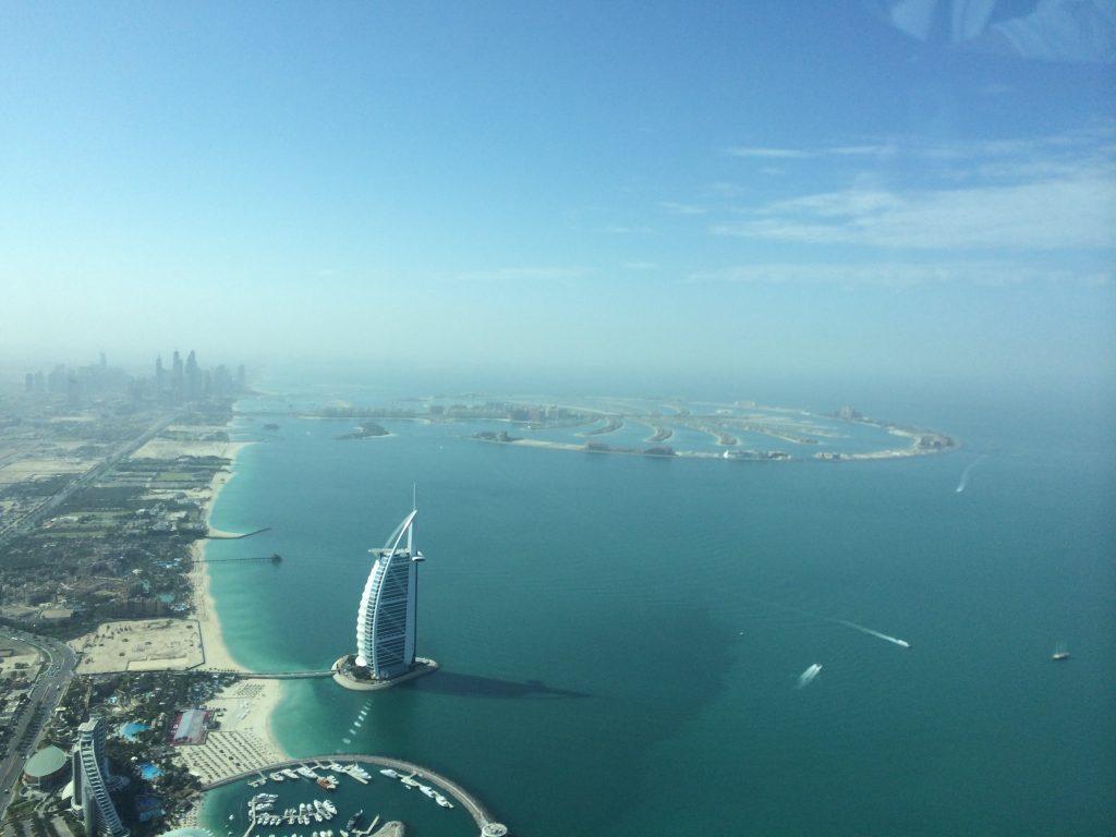 View of Burj Al Arab Jumeirah from above