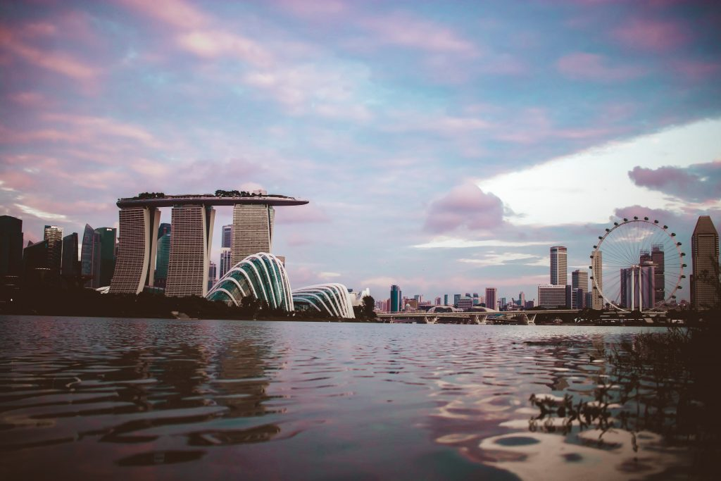 A view of sunrise in Singapore, haven for a tourist