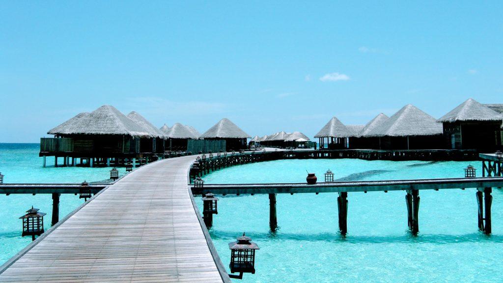 Overwater bungalow at Mirihi island resort