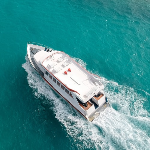 Aerial view of Maldives Cruise