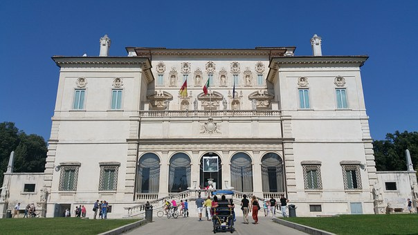 The front view of Galleria Borghese