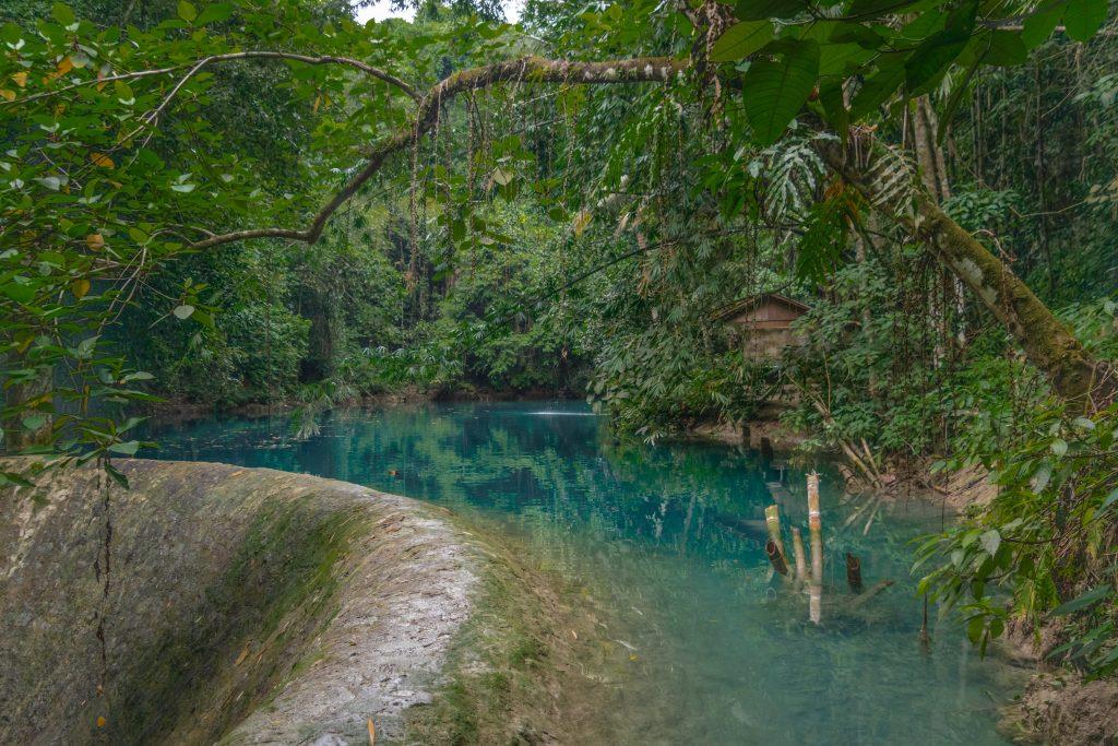The colourful Kawasan waterfalls