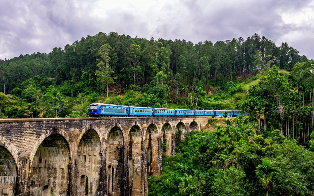 A railway route through Ella in Sri Lanka