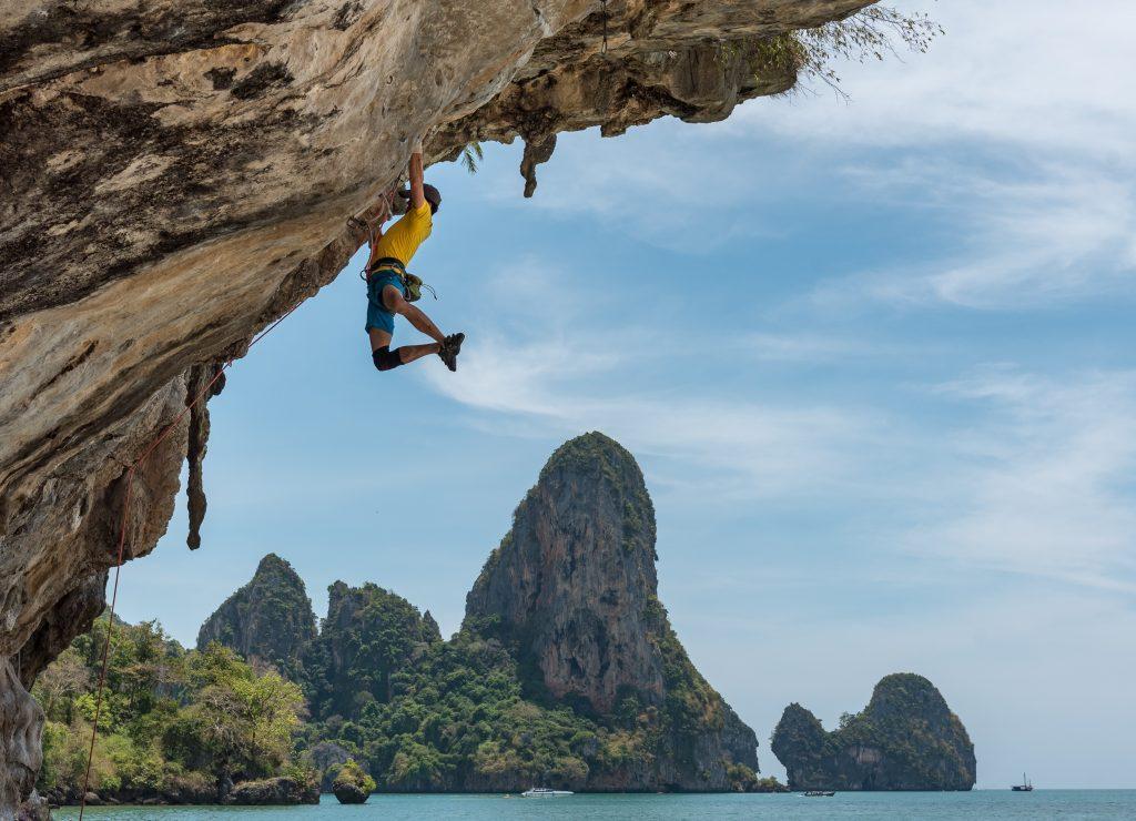 rock climbing at Railay beach