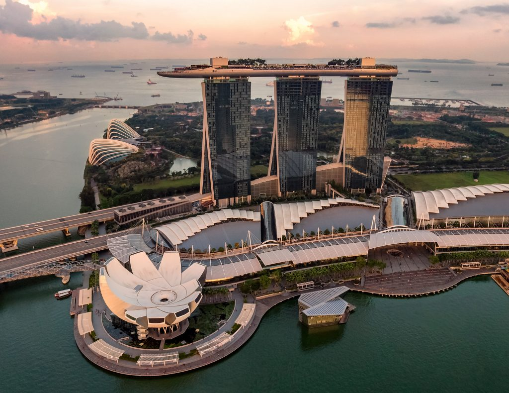 Marina Bay Sands during the sunset