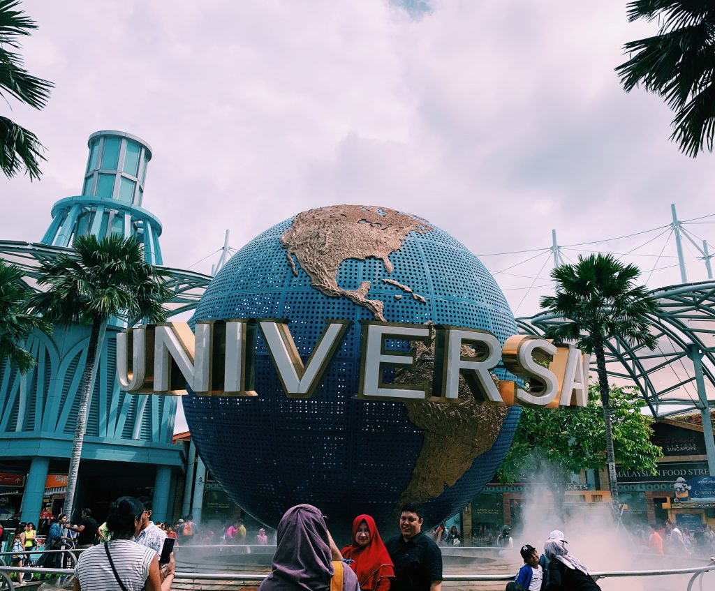 The globe in front of Universal Studios in Singapore
