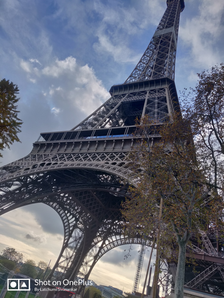 A view of the Eiffel tower in Paris