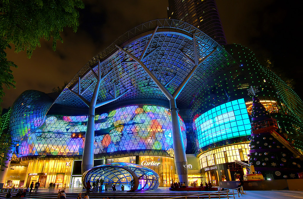 ion orchard mall in the night