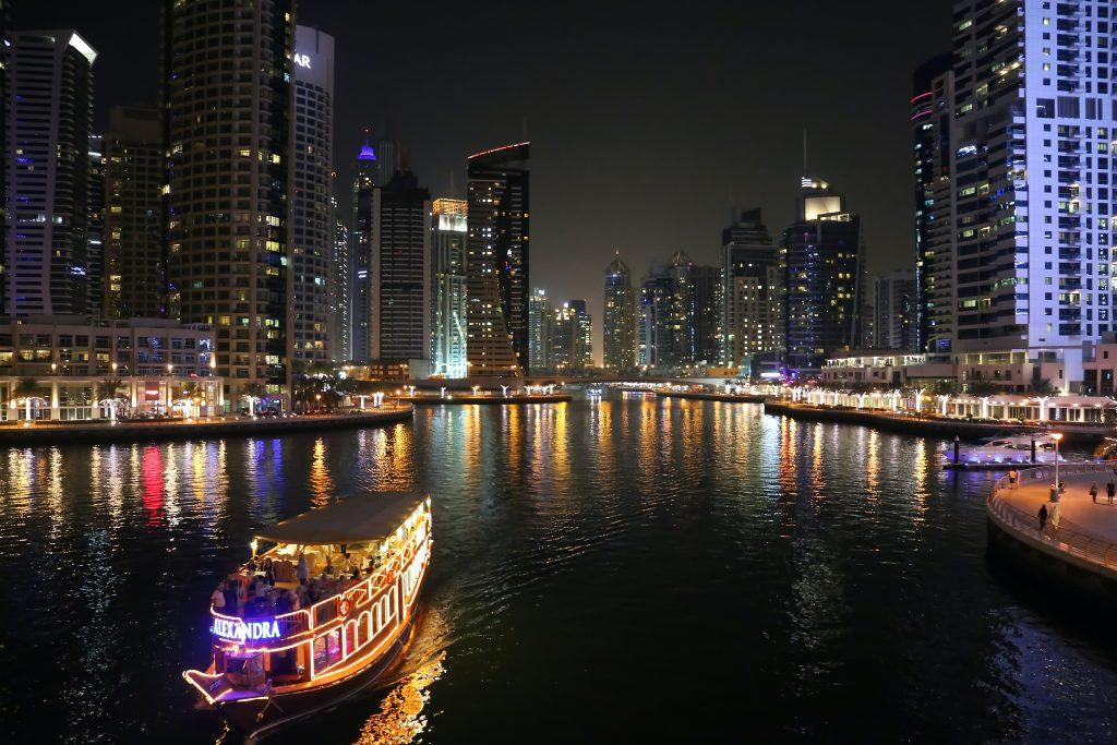 night at Dubai Marina